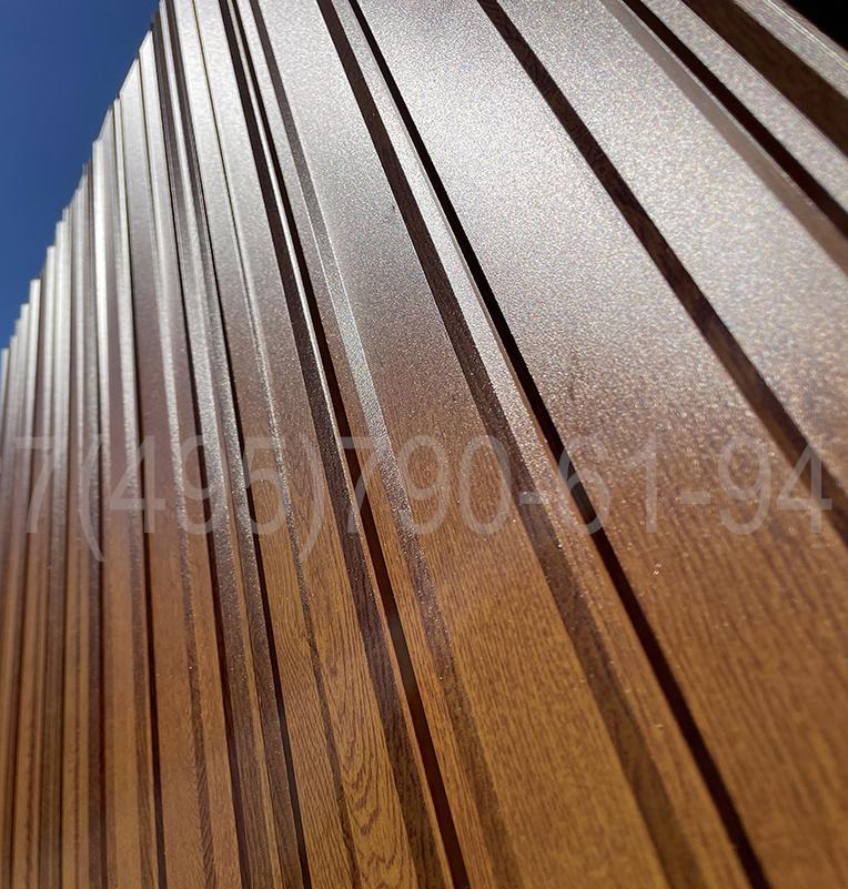 Алюминиевая рейка для фасада под дерево