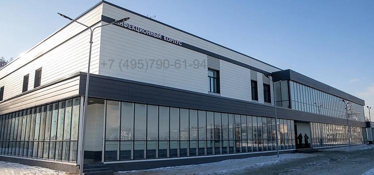Фасад из аналога терракотовой плитки