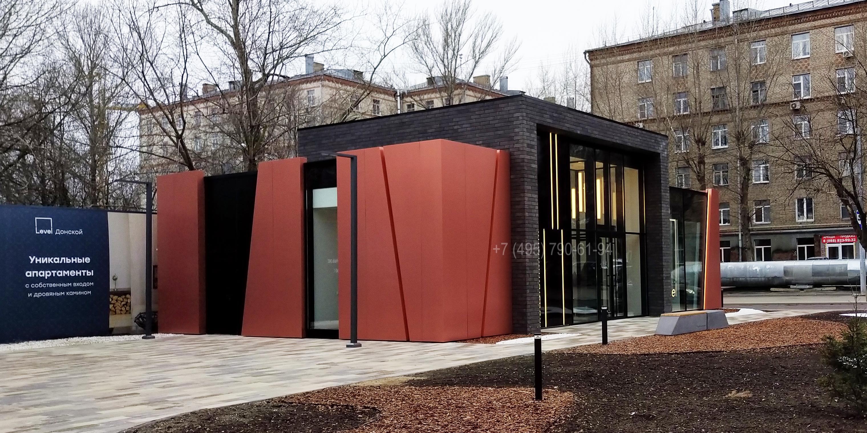 Вентилируемый навесной фасад из алюминиевого композита